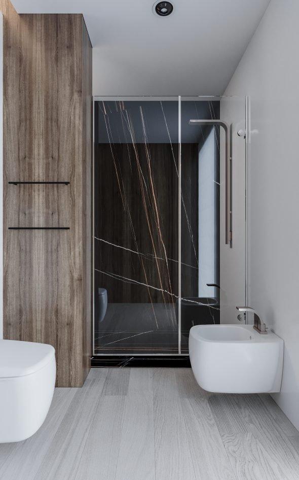 doccia in marmo noir
